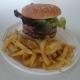 Double Burger + Frites Maison