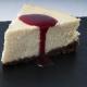 Cheesecake au citron avec coulis de fraise